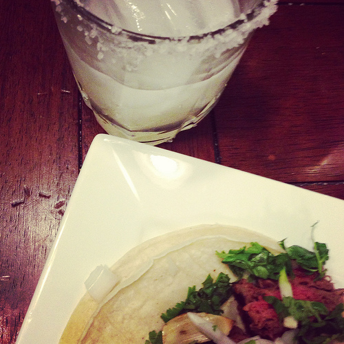 margaritas and carne asada tacos