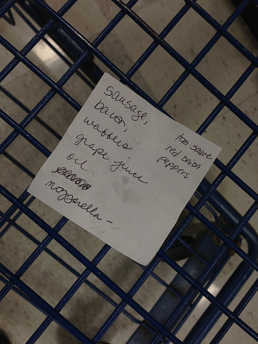 Other people's grocery lists, 3.15.13